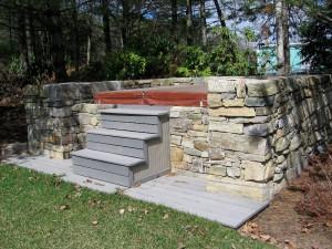 Backyard Landscaping Ideas For Hot Tubs Likable Hot Tub Backyard